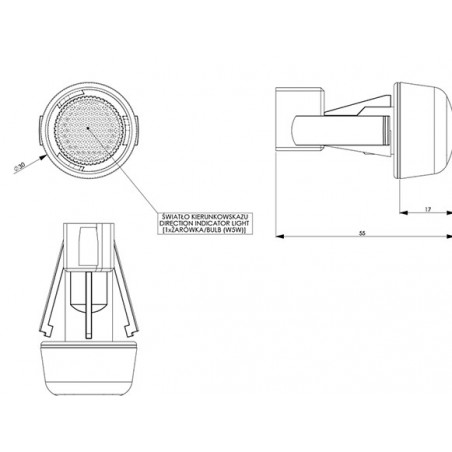 Kostka regulacji reflektora Fiat