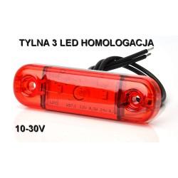 Lampa oświetlenia wnętrza 9 led  12-24V klosz bezbarwny CIENKA 18mm