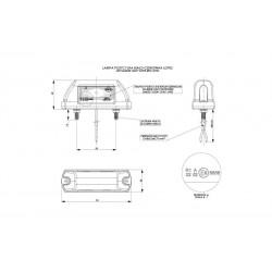 Lampa Ośietlenia  TABLICY 3LED+3 LED POZYCYJNE 12/24V LTD 232