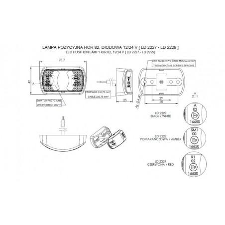 Lampa Zespolona Tylna 2 Funkcje 16 led 24V